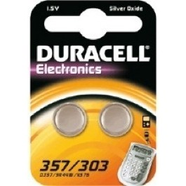 DURACELL (x2) SR44W (357/303) Twin Pack WATCH BATTERY