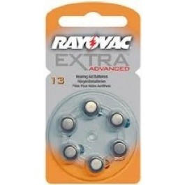 PACK OF 6 RAYOVAC 13 1.4v ZINC AIR HEARING AID BATTERIES