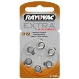PACK OF 6 RAYOVAC 312 1.4v ZINC AIR HEARING AID BATTERIES