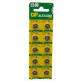 10 X GP AG10, LR54 1.5V ALKALINE CELLS