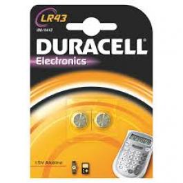 2 X DURACELL LR43 AG12 ALKALINE 1.5 V CELL BATTERIES