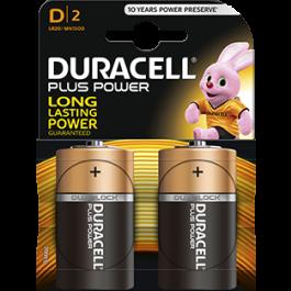 2 X DURACELL PLUS D-SIZE