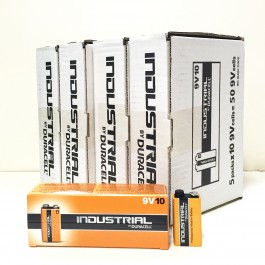 Duracell Industrial 9v Alkaline 1.5v X 200 (4 x BOXES of 50 Bulk Deal)