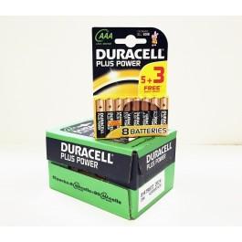 Duracell Plus AAA Alkaline 1.5v X 80 (10 packs of 8 Bulk Deal)