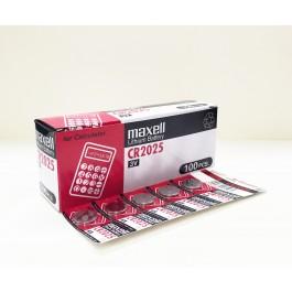 Maxell CR2025 Lithium - BOX of 100 (Bulk Deal)