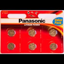6 X PANASONIC CR2032 LITHIUM BATTERIES