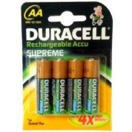 4 X DURACELL 2400 mAh AA RECHARGEABLE BATTERIES