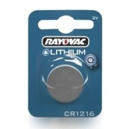 RAYOVAC CR1216 LITHIUM BATTERY