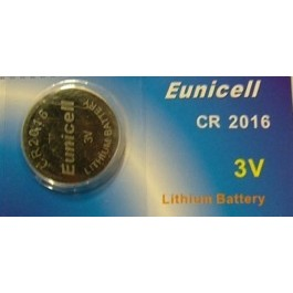 5 X EUNICELL CR2016 LITHIUM BATTERIES