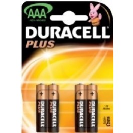 4 X DURACELL PLUS AAA