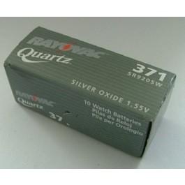 10 X RAYOVAC SR920SW (371) WATCH BATTERIES