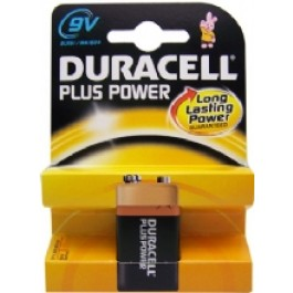 1 X DURACELL PLUS 9V ALKALINE BATTERY