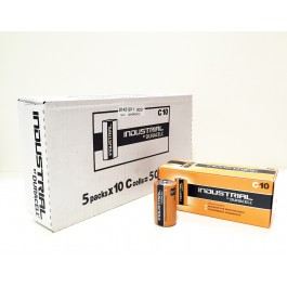 Duracell Industrial C Size Alkaline 1.5v X 50 (5 x BOXES of 10 Bulk Deal)