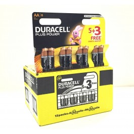Duracell Plus AA Alkaline 1.5v X 96 (12packs of 8 Bulk Deal)