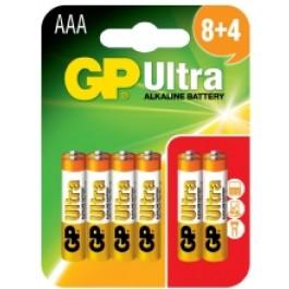 GP ULTRA ALKALINE AAA 8 PACK + 4 FREE (12PK)
