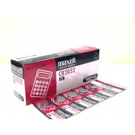 Maxell CR2032 Lithium - BOX of 100 (Bulk Deal)