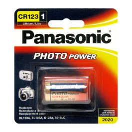 1 X PANASONIC CR123 3V PHOTO LITHIUM